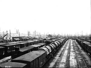 Gare de triage Athis-Juvisy vers 1935. Coll. Centre Culturel. Archives Paris-Orléans.