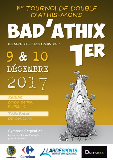 Bad'Athix 1er - Tournoi de double d'Athis-Mons