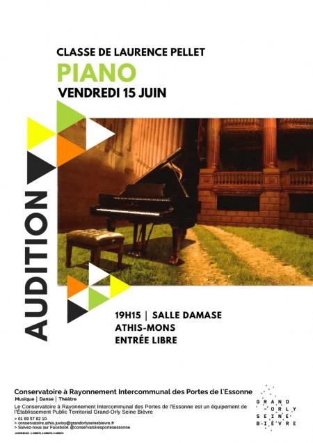 Audition de piano de la classe de Laurence Pellet
